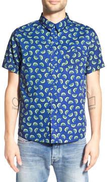 NATIVE YOUTH Trim Fit Kiwi Print Woven Shirt