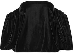 Elizabeth and James Simmy Off-the-shoulder Velvet Top - Black
