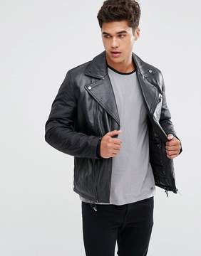 Kiomi Leather Biker Jacket