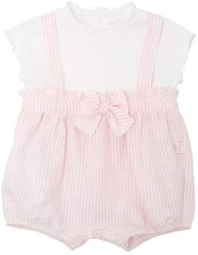 Il Gufo Cotton Jersey & Linen Romper