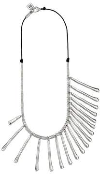 Uno de 50 Let It Rain Silver-Tone Mixed Size Stick Necklace