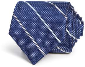 Bloomingdale's The Men's Store at Textured Striped Classic Tie - 100% Exclusive