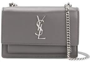 Saint Laurent Women's Grey Leather Shoulder Bag. - GREY - STYLE