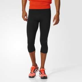 adidas Men's Running Supernova 3/4 Tights, Large, Black