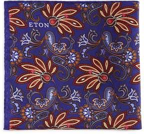 Eton Floral Pine Pocket Square