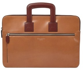 Aspinal of London Connaught Document Case In Smooth Natural Tan