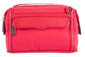 Rebecca Minkoff Leather-Trimmed M.A.C. Cosmetic Bag