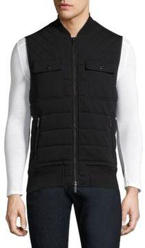Michael Kors Quilted Knit Cotton Vest