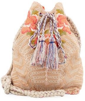 Johnny Was Jojo Linen Bucket Bag