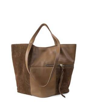 Kooba Prescott Suede-Trim Tote Bag