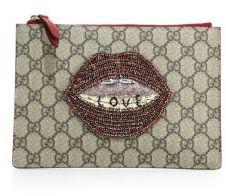 Gucci Merveilles GG Supreme Pouch - BEIGE - STYLE