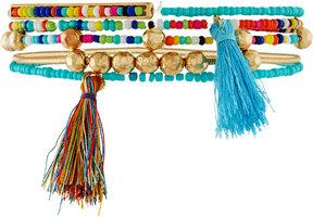 Fragments for Neiman Marcus Beaded Tasseled Stretch Bracelets, Set of 5