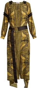 Amanda Wakeley Paisley-print crepe de Chine dress