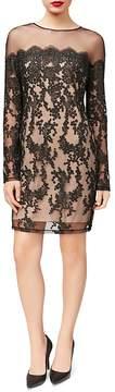 Betsey Johnson Illusion Lace Sheath Dress