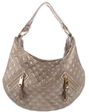 Marc Jacobs Metallic Quilted Leather Hobo - GOLD - STYLE