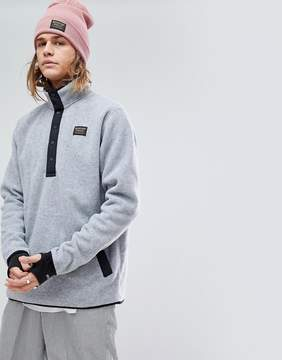 Burton Snowboards Hearth Fleece Overhead Sweatshirt in Gray Marl