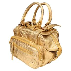 Christian Lacroix Vintage Gold Leather Handbag