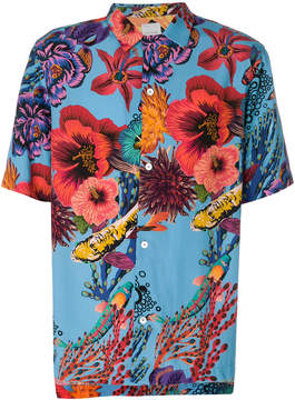 Paul Smith aquatic floral shirt