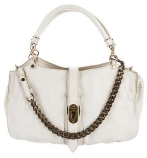Burberry Leather Shoulder Bag - WHITE - STYLE