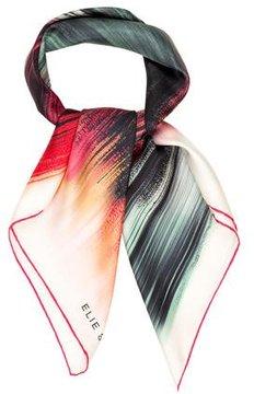 Elie Saab Striped Silk Scarf