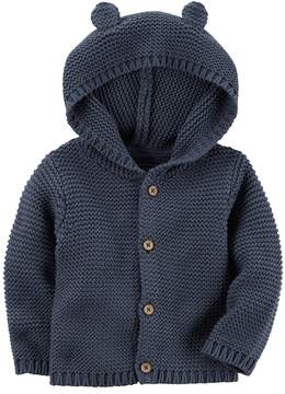 Carter's Baby Boy Hooded Textured Cardigan