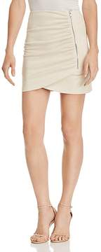 Aqua Ruched Faux Suede Skirt - 100% Exclusive