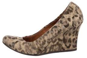 Lanvin Printed Round-Toe Wedges