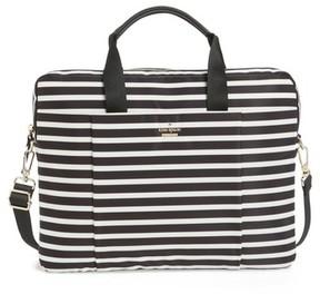 Kate Spade Stripe Nylon Commuter Bag - Black - BLACK - STYLE