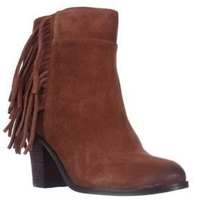 Kenneth Cole Alana Fringe Ankle Boots, Rust.