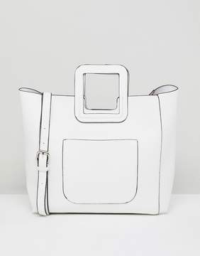 French Connection Tote Bag With Structured Handle And Detachable Across Body Strap