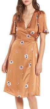 Astr Floral Wrap Dress