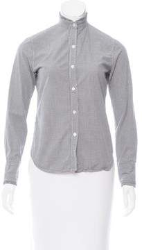 Steven Alan Gingham Printed Button Up Top