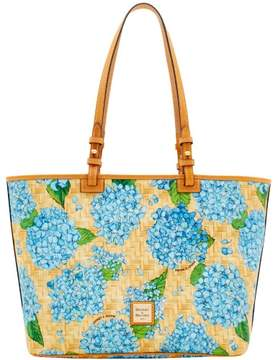 Dooney & Bourke Hydrangea Basketweave Leisure Shopper Tote - SKY BLUE - STYLE
