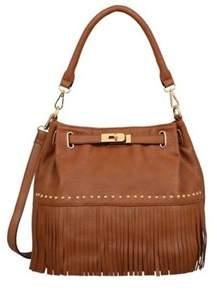 Mellow World Women's Lorraine Fringe Bucket Bag.
