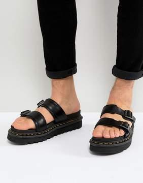 Dr. Martens Myles Slide Sandals In Black