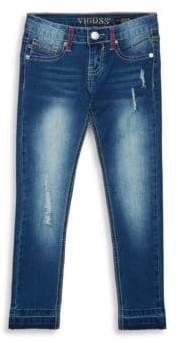 Vigoss Girl's Released Hem Jeans