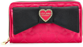 Betsey Johnson Boxed Love Bow Zip-Around Wallet