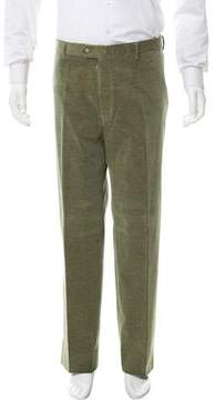 Luciano Barbera Flat Front Corduroy Pants