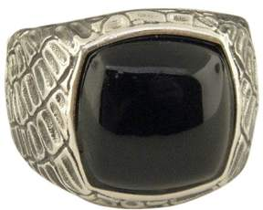 David Yurman 925 Sterling Silver with Black Jade Ring Size 8