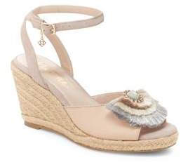 Nanette Lepore Nanette By Queen Faux Leather Wedge Espadrilles