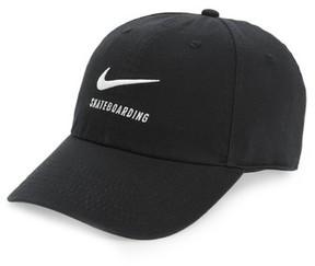 Nike Men's Sb H86 Twill Logo Cap - Black