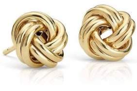 Alpha A A 14kt Solid Yellow Gold Love Knot Earrings