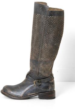 Bed Stu Bedstü Black Perforated Boot