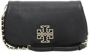 Tory Burch Britten Black Leather Clutch - ONE COLOR - STYLE