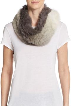 La Fiorentina Women's Rabbit Fur Muffler