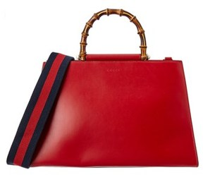 Gucci Nymphaea Large Leather Top Handle Satchel. - MULTIPLE COLORS - STYLE