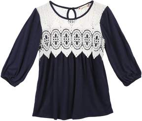 Speechless Girls 7-16 & Plus Size Lace Front Knit Top