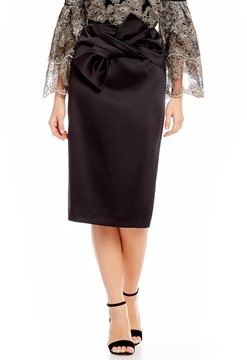Antonio Melani Adelaide Stretch Satin Exaggerated Bow Skirt