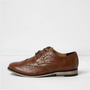 River Island Boys tan brogues