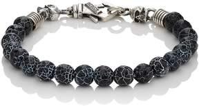 Emanuele Bicocchi Men's Cracked Onyx Beaded Bracelet